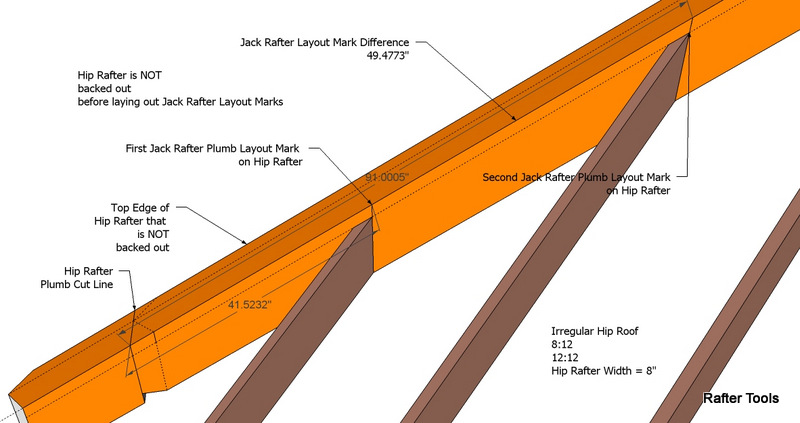 how to measure and cut jack rafters